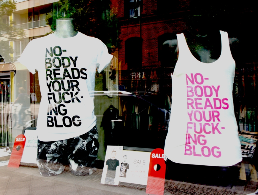 Nobody reads your blog