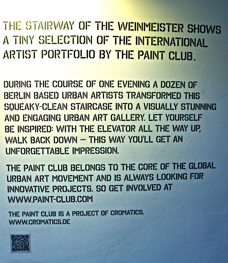 Weinmeister Hotel berlin paint club